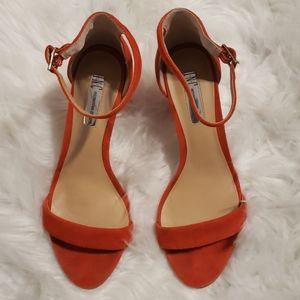 INC  Kivah Two-Piece Sandals In Burnt Orange